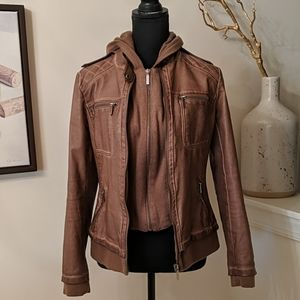 Rustic Tan Faux Leather Jacket